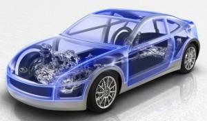 car inside powertrain