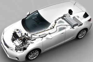 Lexus CT200h powertrain