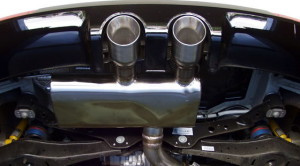 VW Golf-R exhaust system