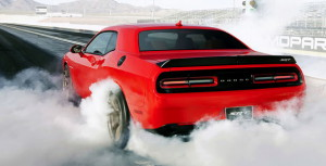 Dodge Challenger srt hellcat rear